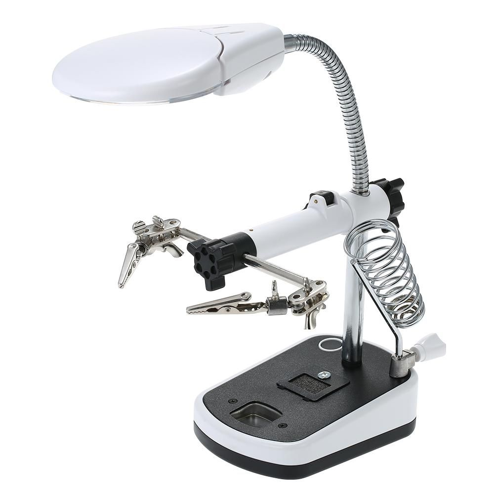 90mm Diameter Magnifier With Led Light Magnifier Soldering