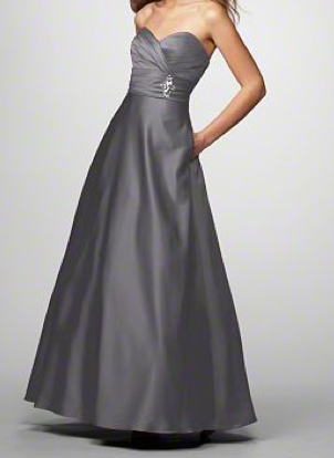 charcoal gray evening gowns - Google Search | Dresses for short ...