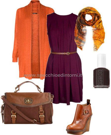 arancione come abbinare colori tinte vestiti accessori borse