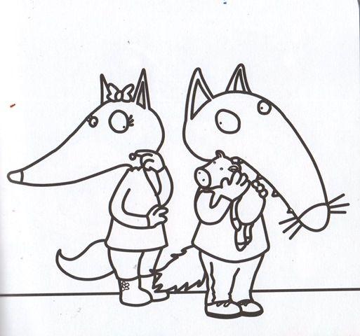 Coloriage cont loup et p tit loup page 2 activit loup et p 39 tit loup lobos - Coloriage p tit loup ...