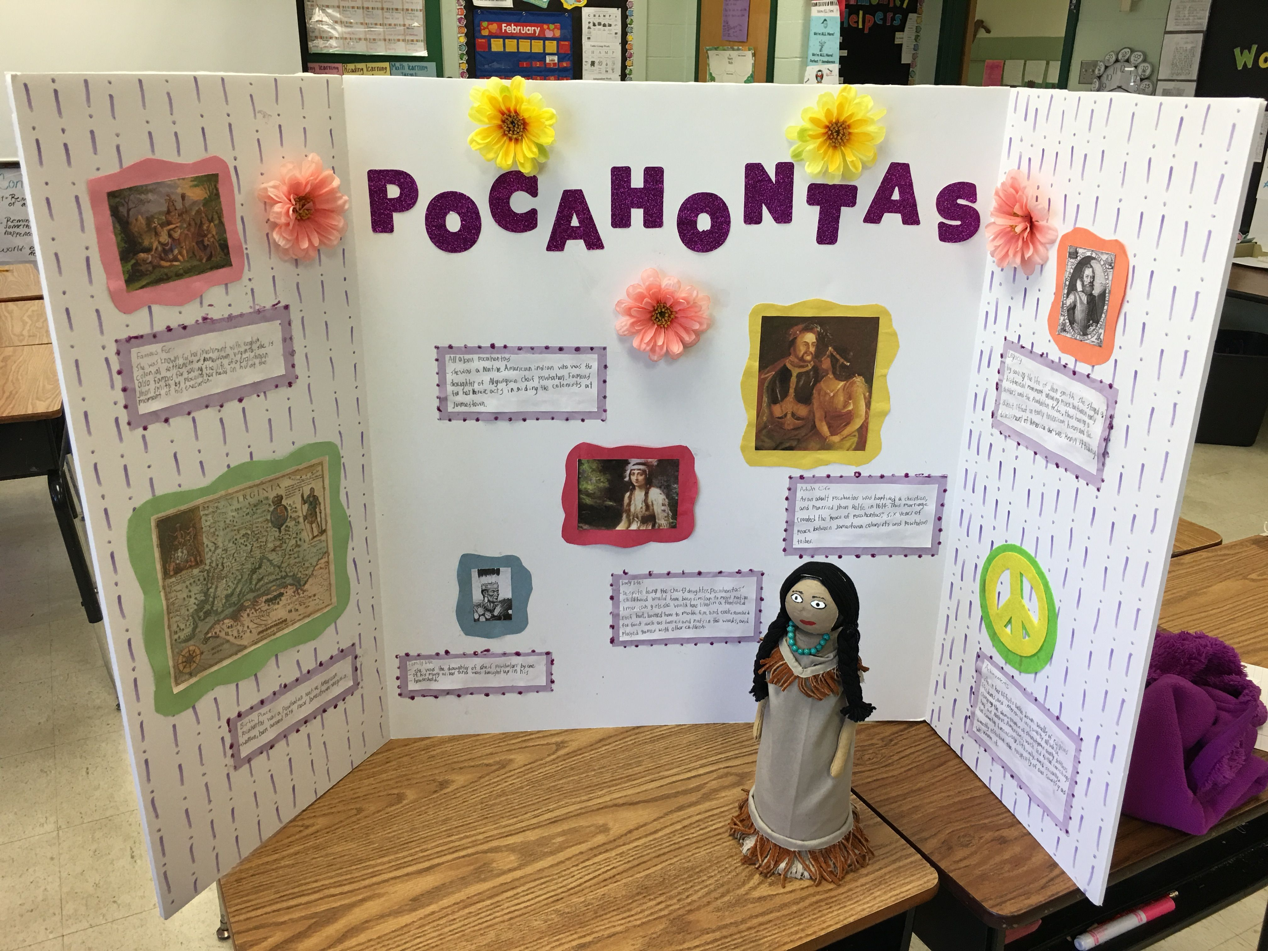 2nd Grade Biography Bottle Project Pocahontas