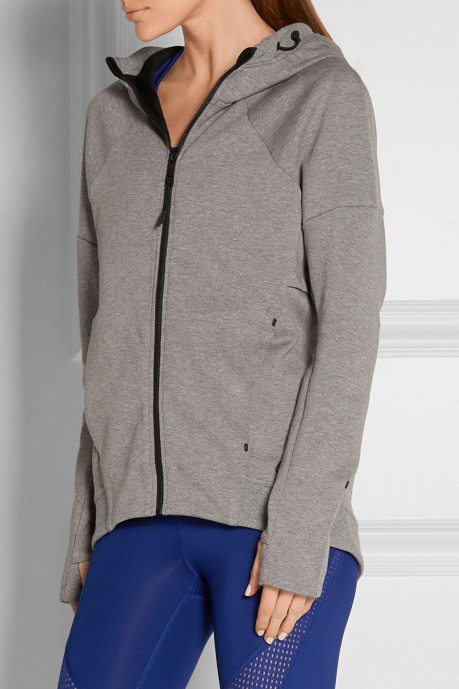 Nike Tech Fleece cottonblend jersey hooded top
