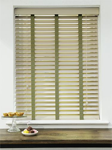 Vetiver Grey Olive Wooden Blind With Tapes 50mm Slat Wooden Blinds Blinds Window Coverings