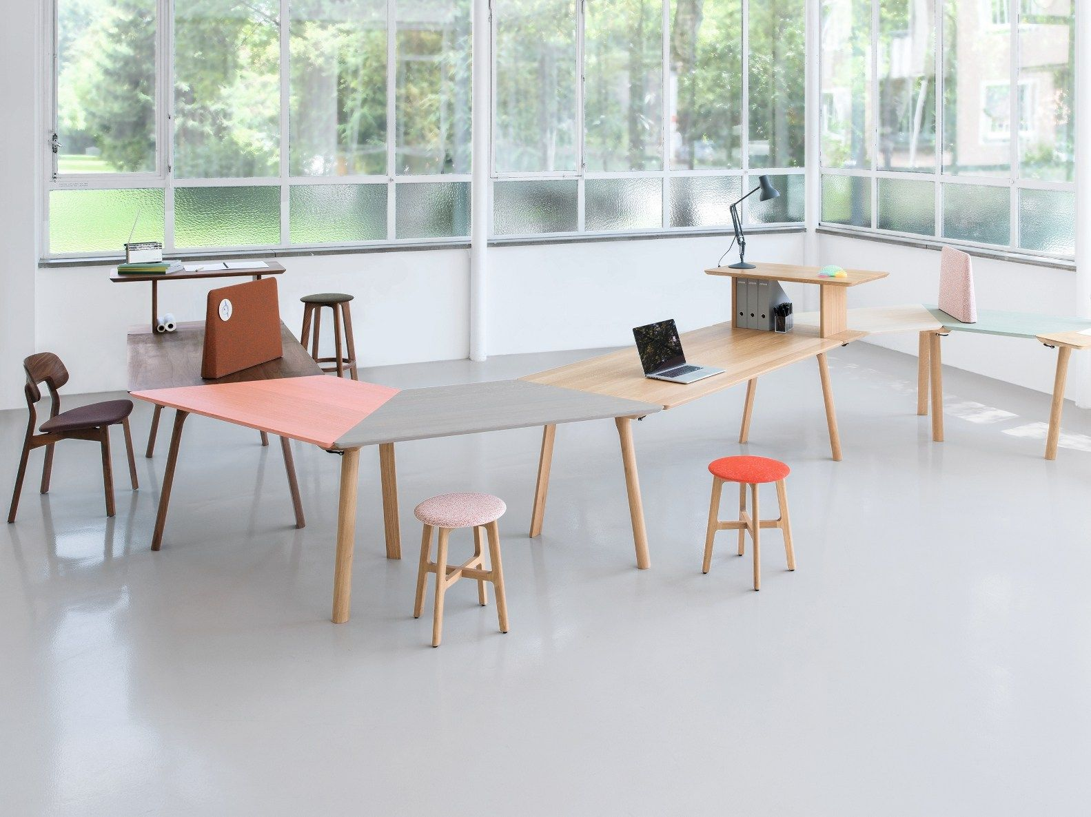 Sectional office desk RAIL Collection by ZEITRAUM design Kaschkasch : sectional office desk - Sectionals, Sofas & Couches