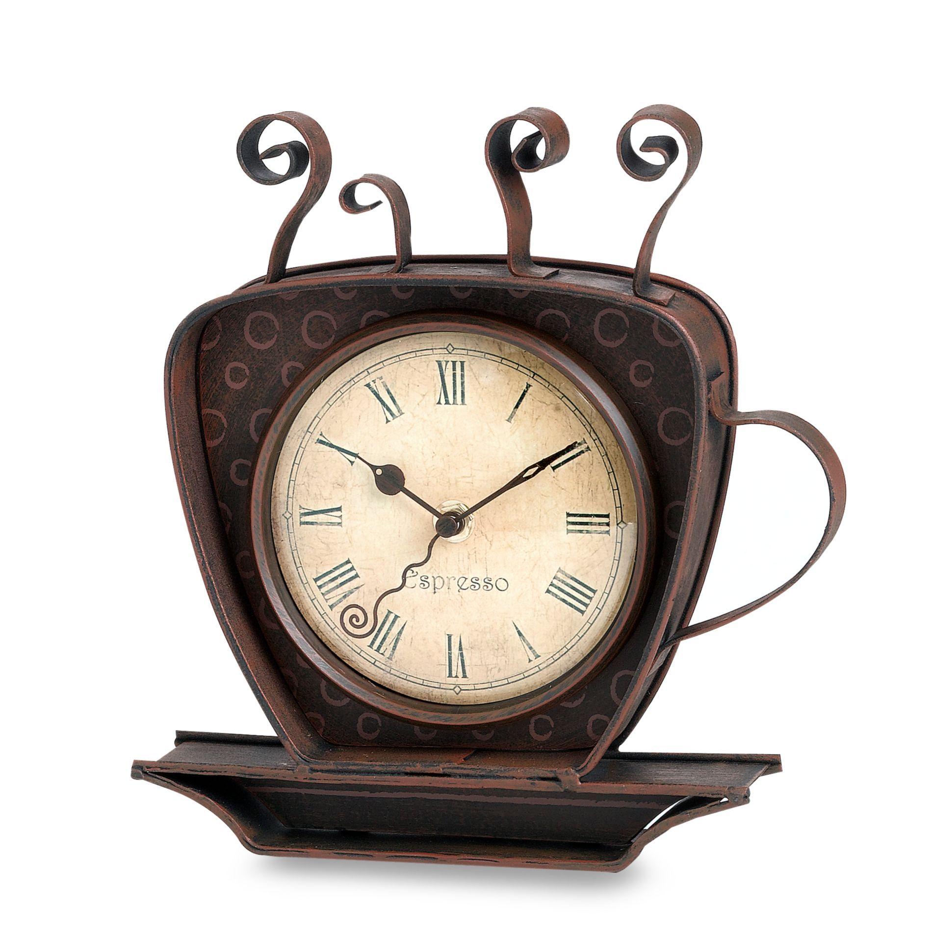 Espresso Coffee Cup Clock Home Decor Pinterest