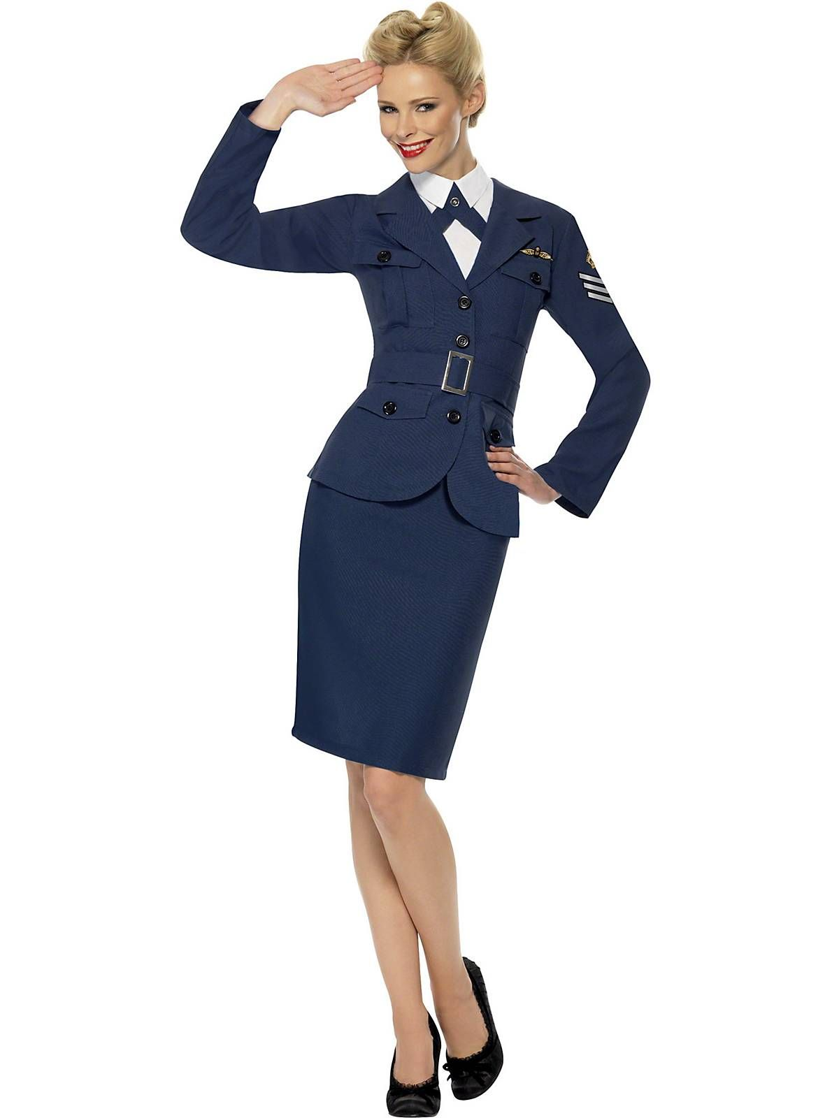 88cc8ac84072 WWII Air Force Female Captain Costume
