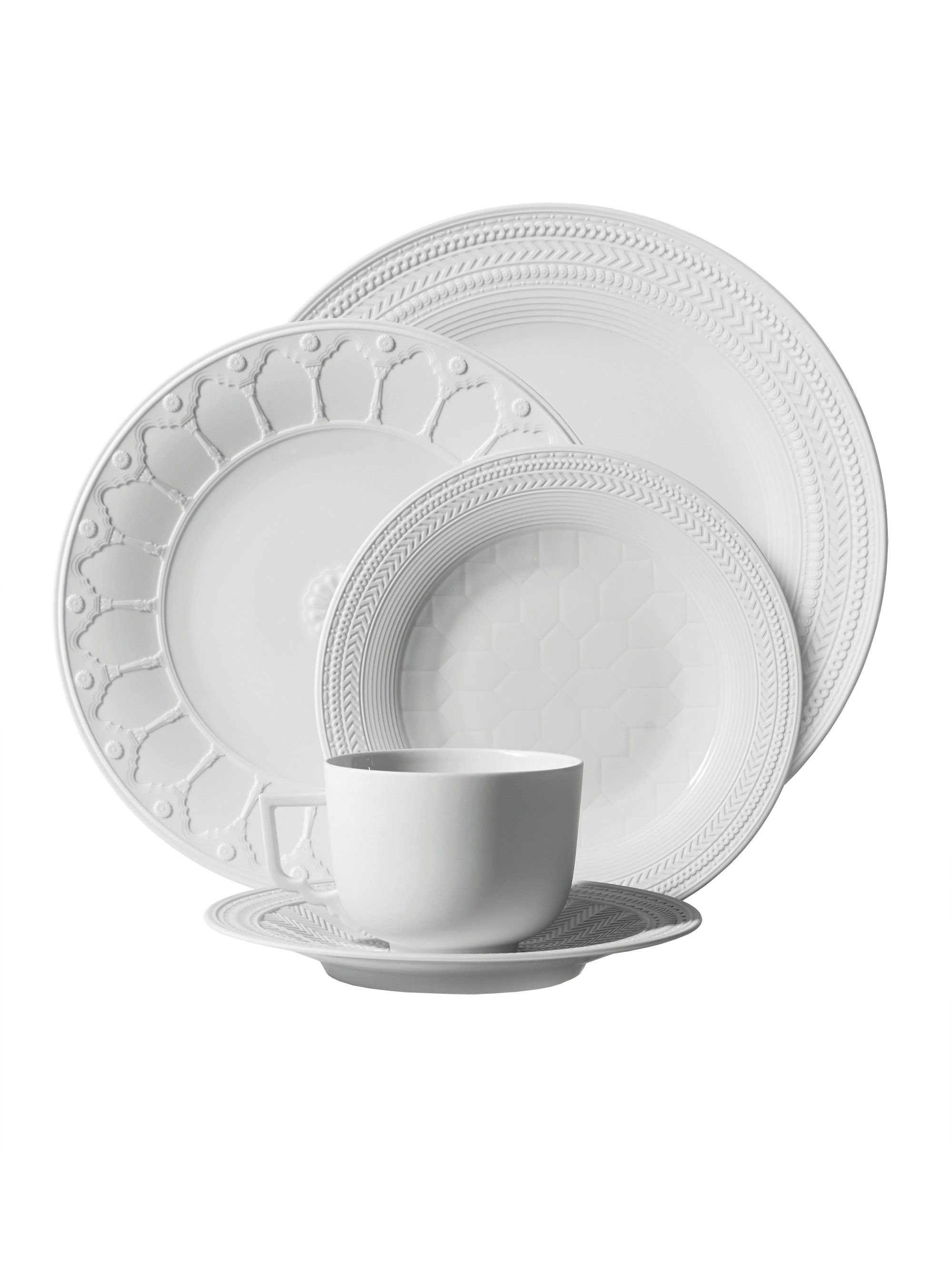 Set of 4 Michael Aram Forest Leaf Dinner Plate