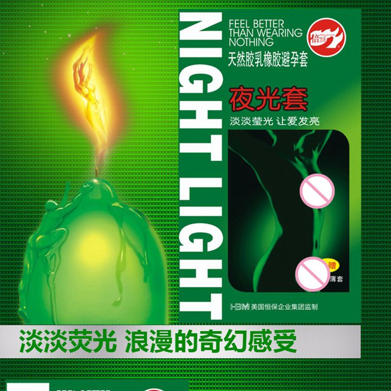 HoozGee Nachtlampje Condoom 3 stks Lichtgevende Condooms + 4 stks Ultradunne Condooms Fluorescentie Speciale Condooms Medische Thema Seksspeeltjes