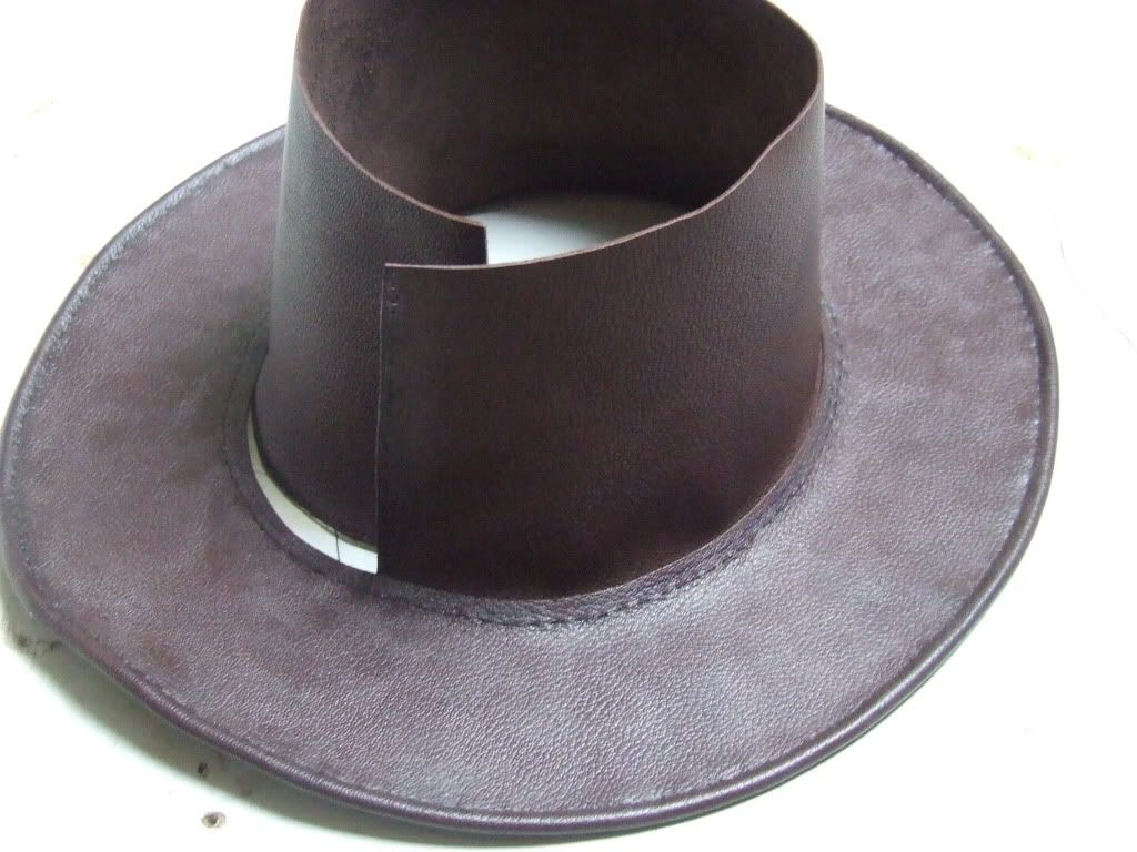 Leather Aussi Bush Hat The Making Of Leather Hats Custom Leather Work Leather Hat Pattern
