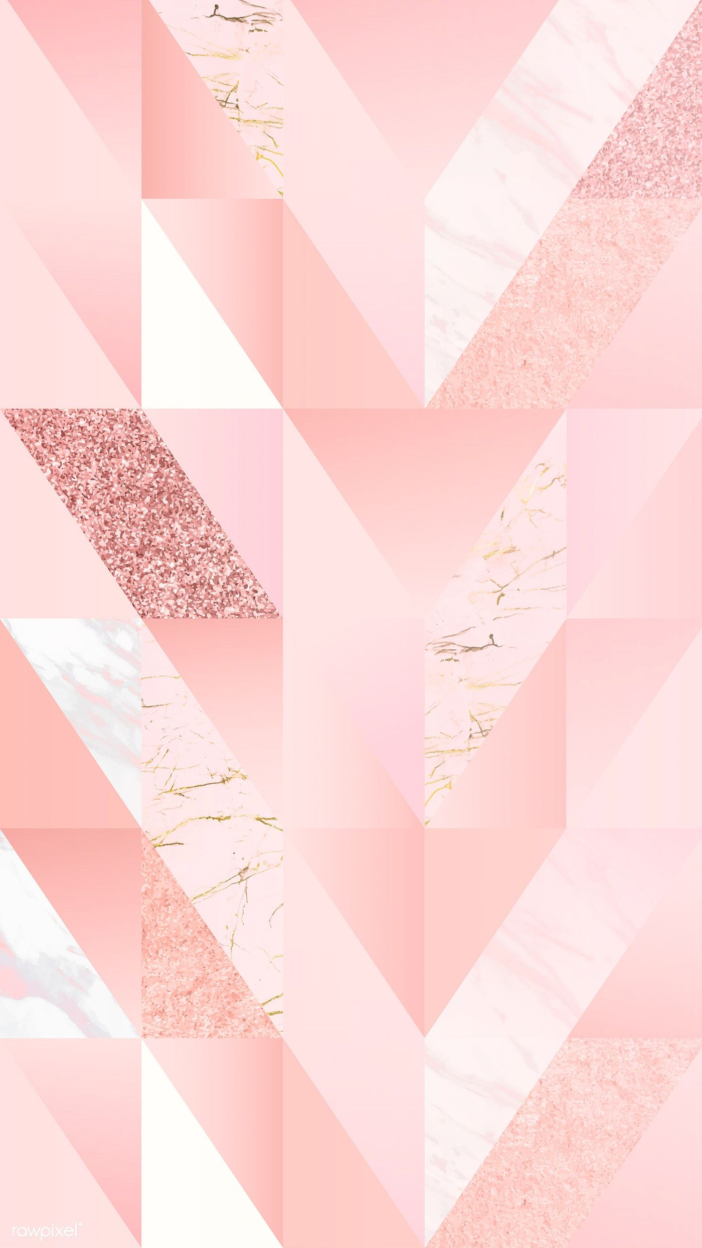 Pink Feminine Geometric Background Vector Free Image By Rawpixel