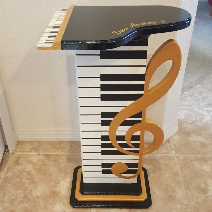 Photo of Music Table floor sculpture, Gold Clef Table, Piano Table to…