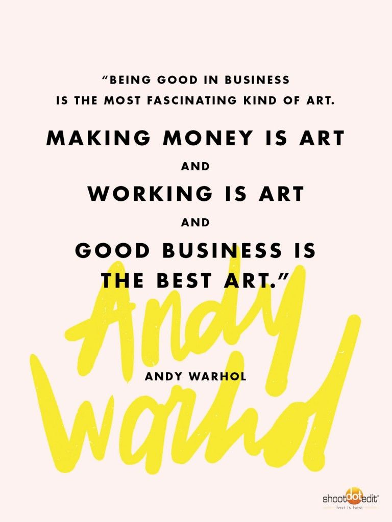 Andy Warhol Quote for Professional Photographers Andy