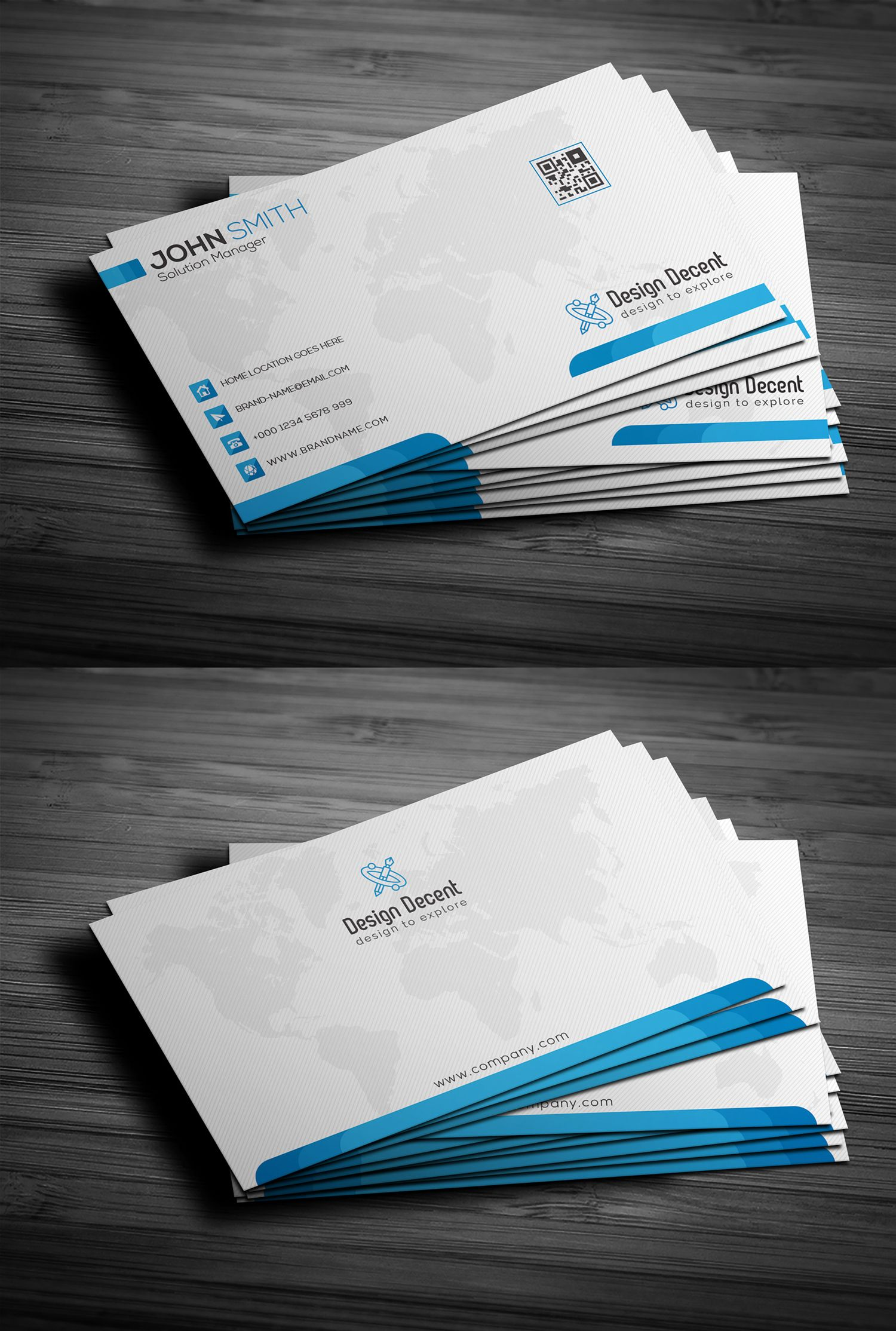 Free Clean Blue Business Card Disenos De Unas Decoracion De Unas