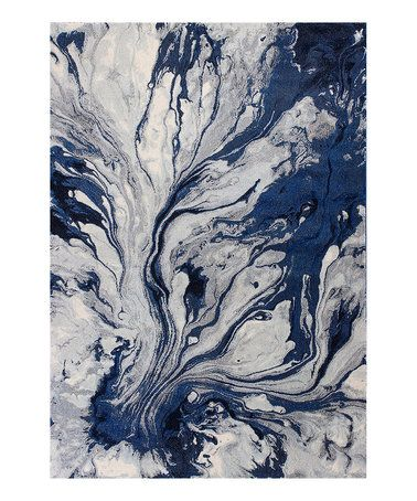This Blue Watercolor Illusions Rug is perfect! #zulilyfinds KAS rugs