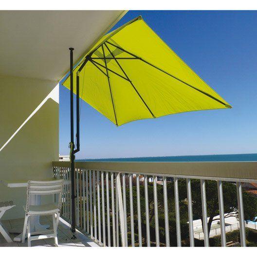 Parasol Balcon Leo Vert Anis Rectangulaire L 300 X L 150 Cm Outdoor Patio Decor Canopy Outdoor Patio Sun Shades