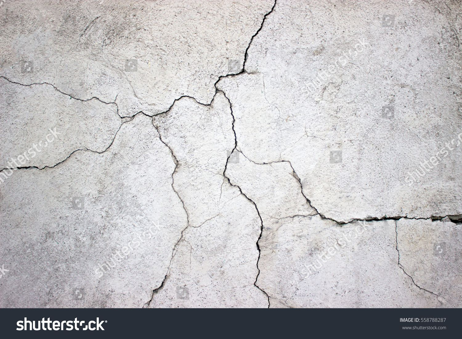Cracked Concrete Wall Covered With Gray Cement Surface As Background Concrete Wall Covering Concrete Wall Wall Coverings