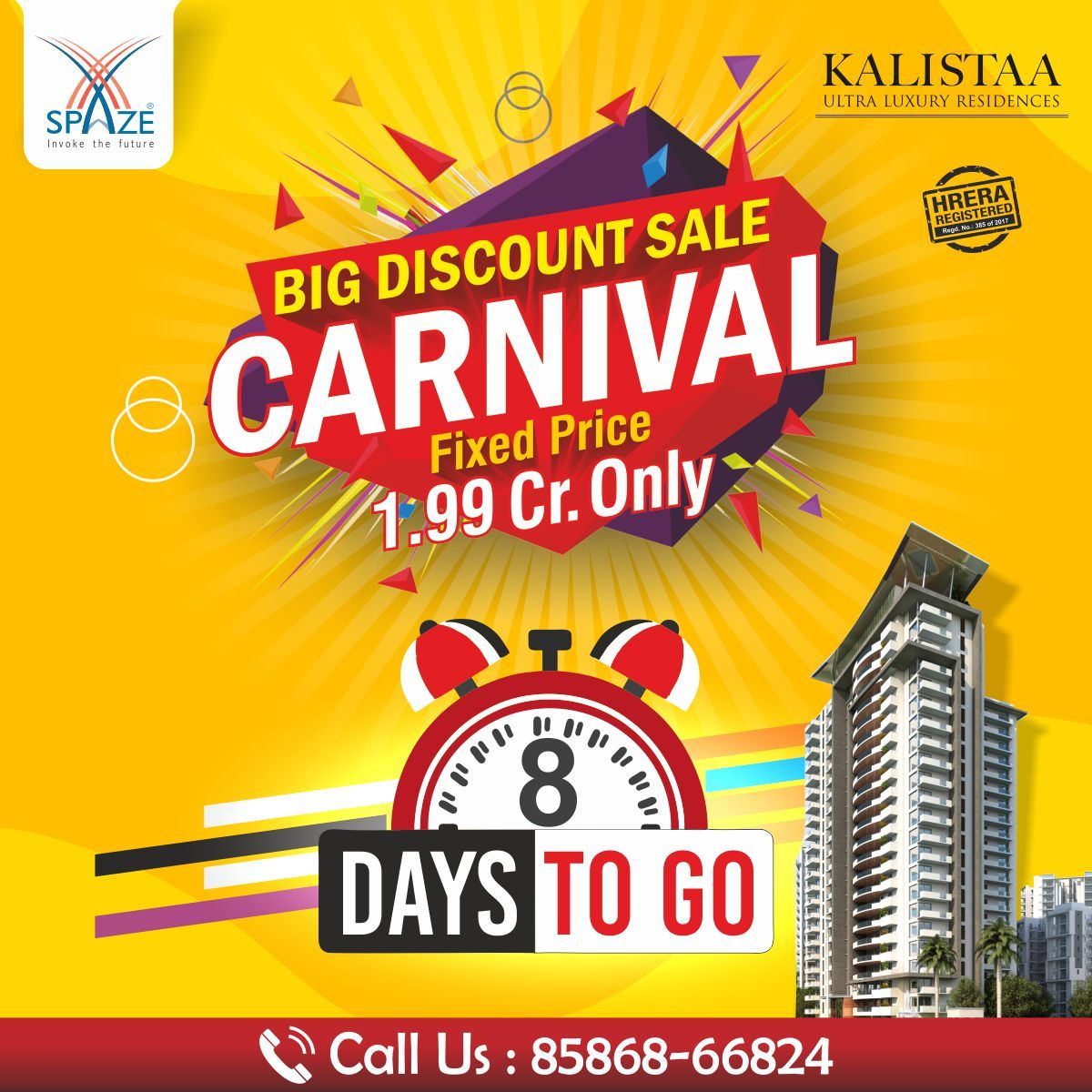 Big Discount Sale In Spaze Carnival Fully Furnished