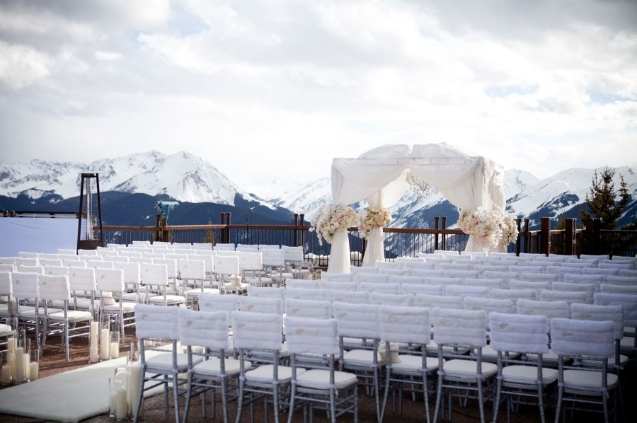 Aspen Mountain Wedding Deck Winter Weddings The Sundeck Aspen