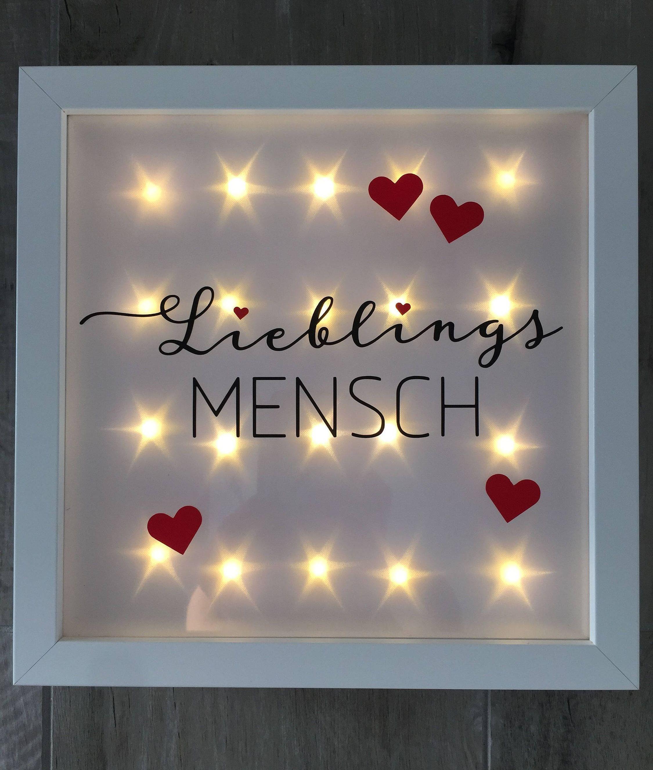 Beleuchteter Bilderrahmen Lieblingsmensch Led Rahmen Wanddeko Von Jonapwohnmanufaktur Auf Etsy Diy Geschenke Freund Beleuchteter Bilderrahmen Geschenke Fur Freund Weihnachten Und Geschenkideen