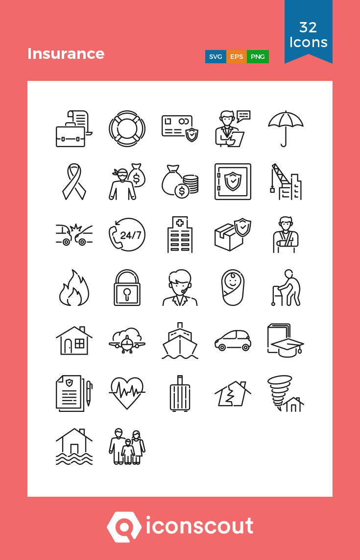 Download Insurance Icon Pack Available In Svg Png Eps Ai Icon Fonts Icon Icon Pack Icon Font