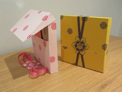 Large Gift Box with Flip Lip, Tutorial using Beautiful Bunch by Stampin' Up