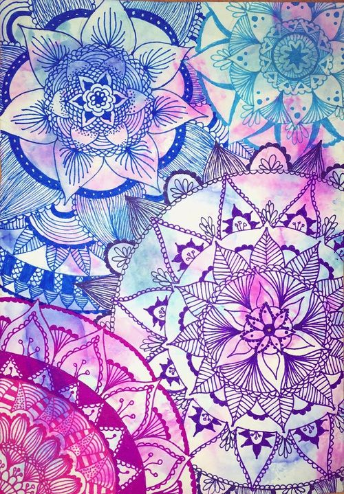 Colors Drawing And Flowers Afbeelding Mandala Wallpaper Wallpaper Backgrounds Mandala Art Colorful cool wallpapers drawings