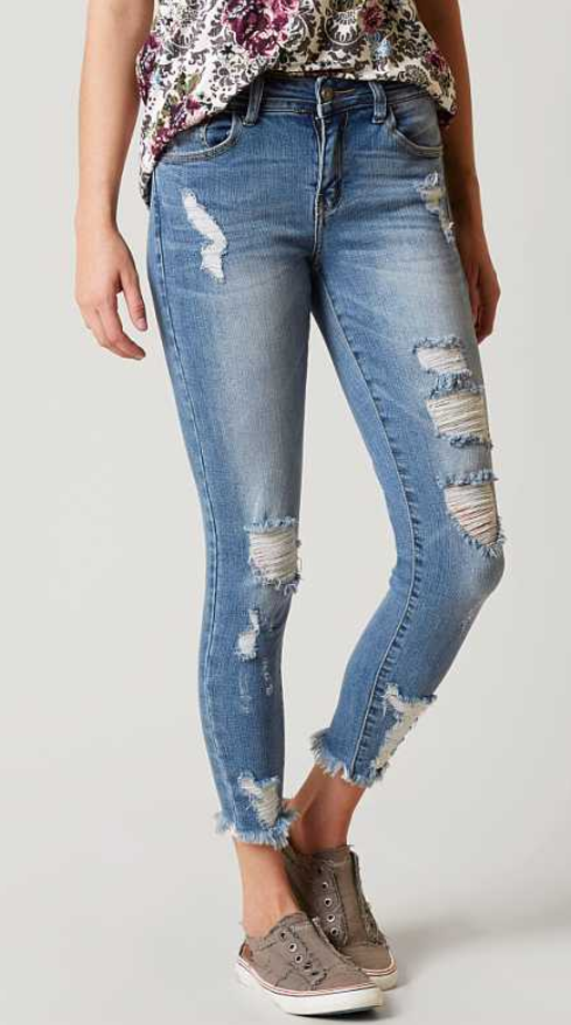 7ec83073bcf Destructed Denim Jeans : KanCan Midrise Skinny Stretch Jean | Buckle ...