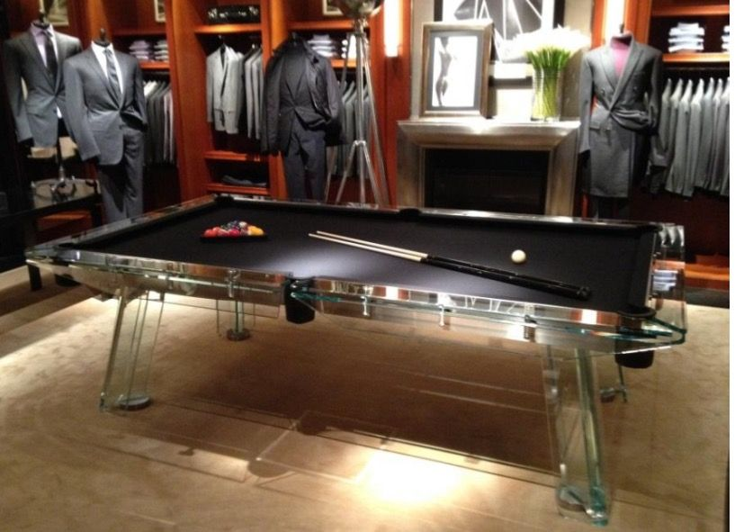 Ralph Lauren Class Handle With Care Glass Billiard Supplies Pool Table Game Room