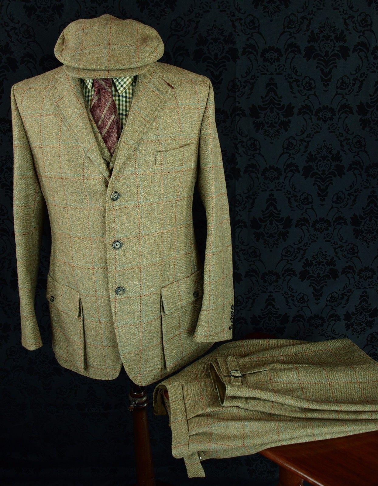 Rare Mens Cordings Tweed 4 Piece Shooting Hunting Suit Jacket Breeks 42 40 38 Ebay Hunting Suit Jackets Gentleman S Wardrobe
