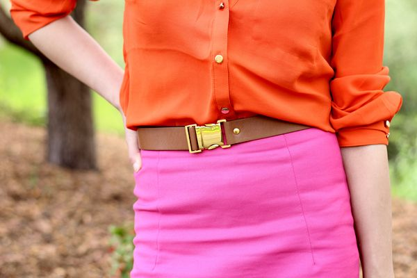 Fast Food & Fast Fashion   a personal style blog: Orange + Pink