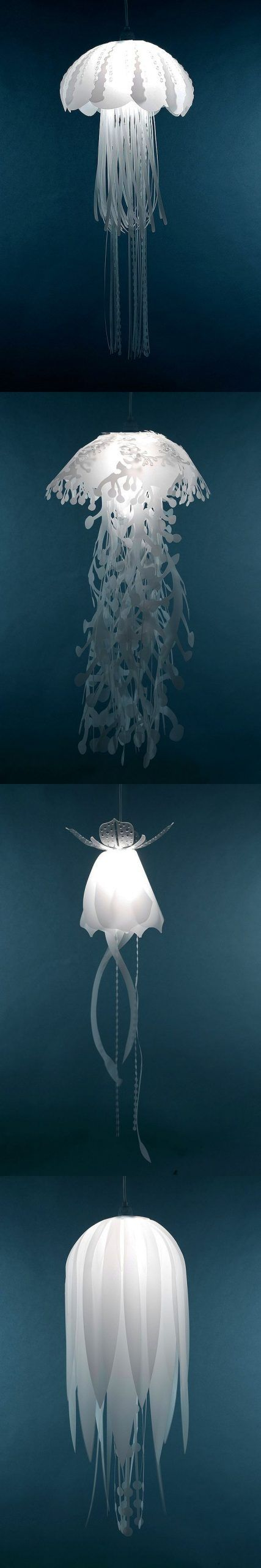 Jellyfish Lamps - Gwyl.io#gwylio #jellyfish #lamps