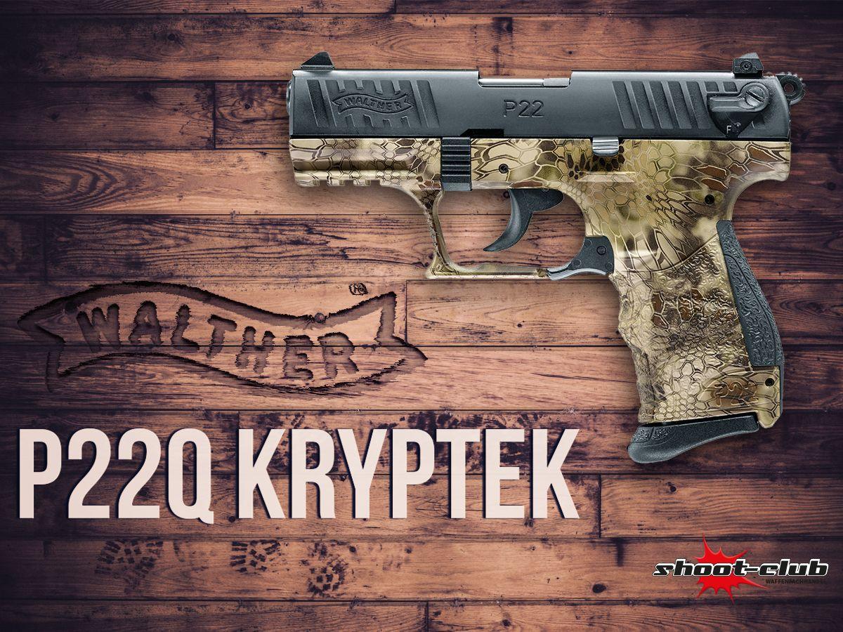 Walther P22Q Kryptek Schreckschusspistole  - mit Kryptek Tarnmuster - Find our speedloader now! http://www.amazon.com/shops/raeind