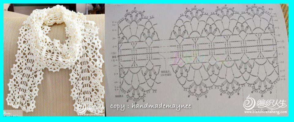 Sjaal Haken prachtig met heel dun garen   Haken-Crochet   Pinterest ...