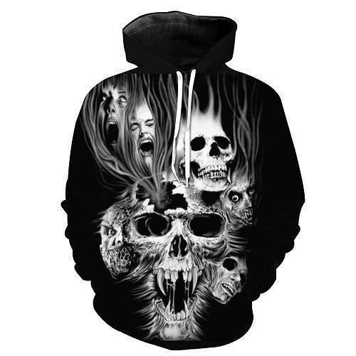 ac93158a Shredder Skull Zip-Up Hoodie Sweatshirt | Skull | Hooded sweatshirts, Skull  hoodie, Biker shirts