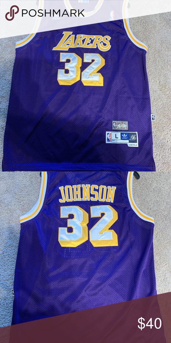 Lakers Magic Johnson Jersey With Images Magic Johnson Johnson Adidas Men