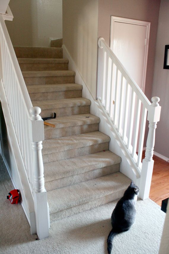 Best Budget Stair Remodel Before Staircase Makeover Stair 400 x 300