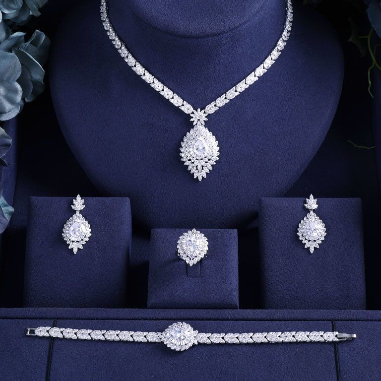 Brautschmuck Frauen Fur Hochzeit Sets Bridal Jewelry Sets For Women Wedding Party Brautsc Bridal Jewelry Sets Bridal Jewelry Bridal Fashion Jewelry