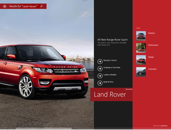 """Microsoft Pilots """"Hero Ads"""" For Branded Search Queries On Windows 8.1 Smart Search"""
