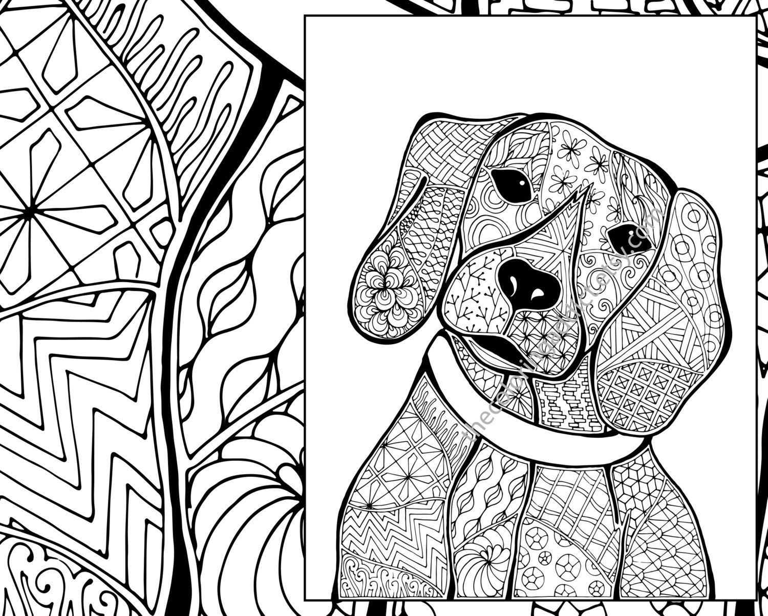 Image Result For Zentangle Dogs Dog Coloring Page Animal