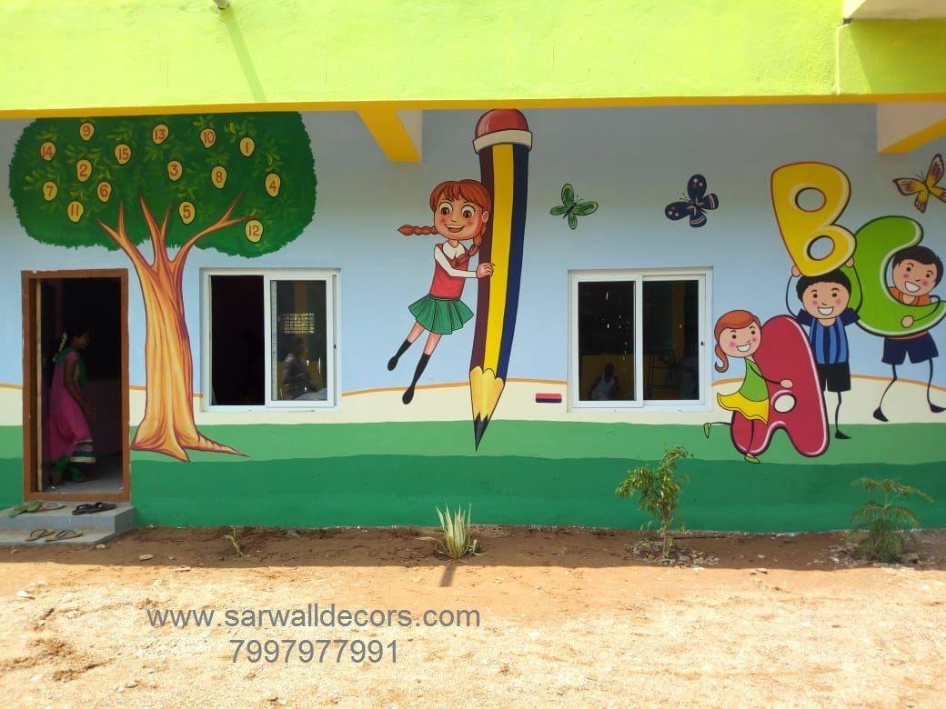 School Wall Painting Ideas Hyderabad School Interior Decoration