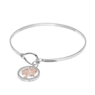 Silver Expressions by LArocks Family Tree Charm Bangle Bracelet     Silver Expressions by LArocks Family Tree Charm Bangle Bracelet