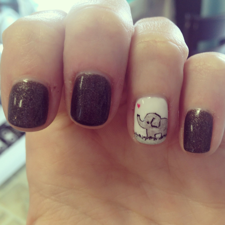Pin By Vane Diaz De Bedoya On I Nailed It Elephant Nails Elephant Nail Art Fashion Nails
