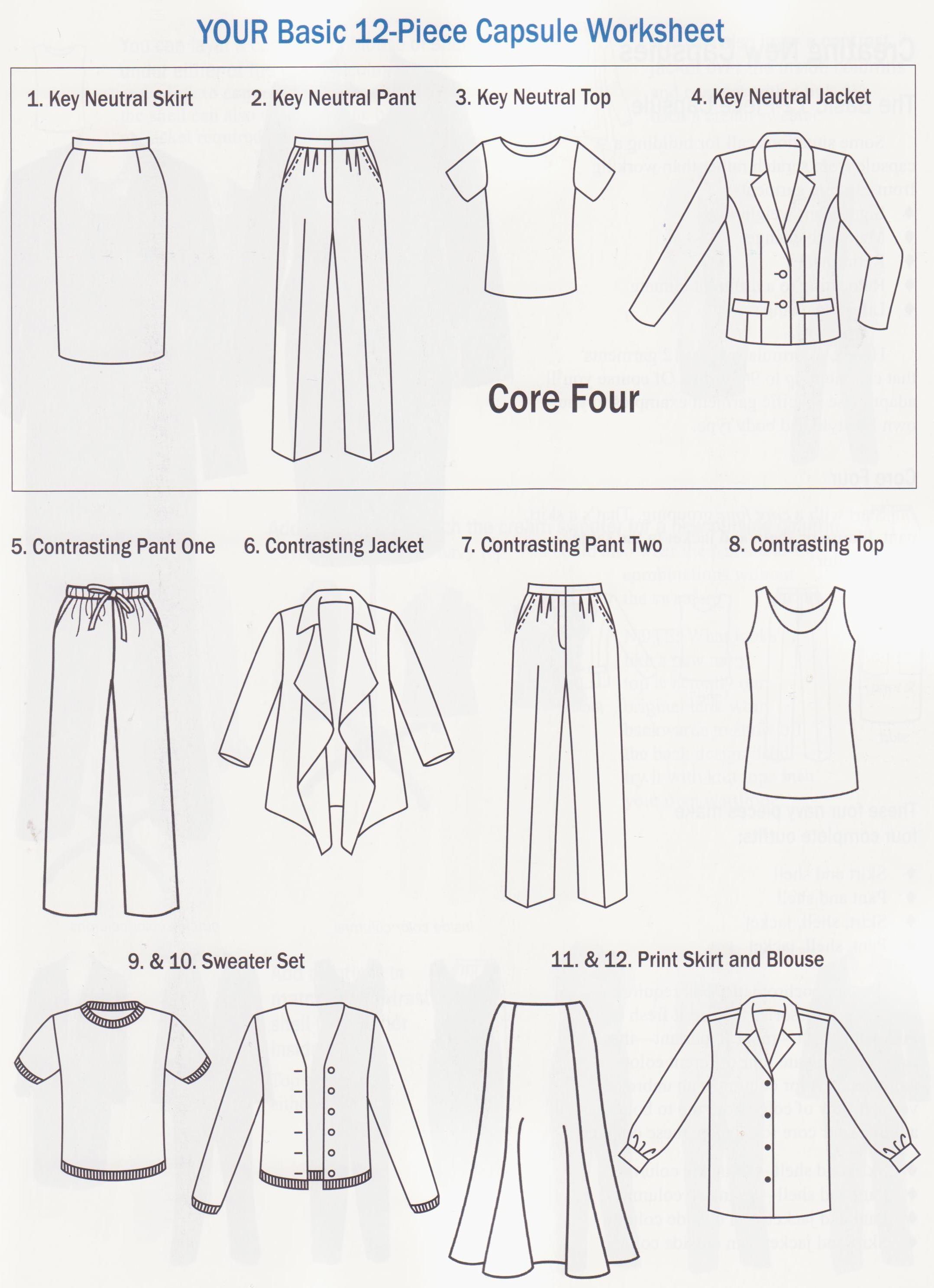 12 Piece Wardrobe Plan