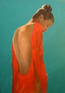 "Saatchi Art Artist Pascale Taurua; Painting, ""Bright red"" #art"