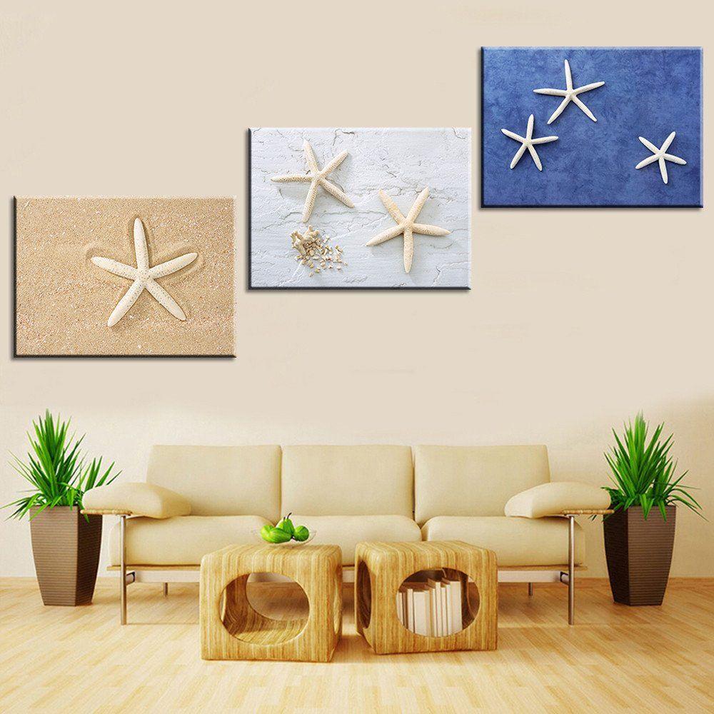 Oil painting canvas print still life love starfish home decoration