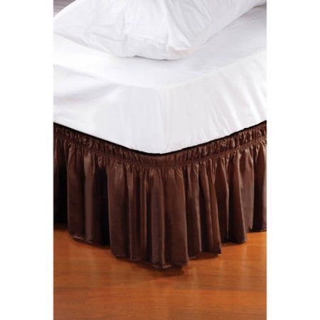 Kennedy Home Collection Wrap Around Bed Ruffle Bed Skirt Brown