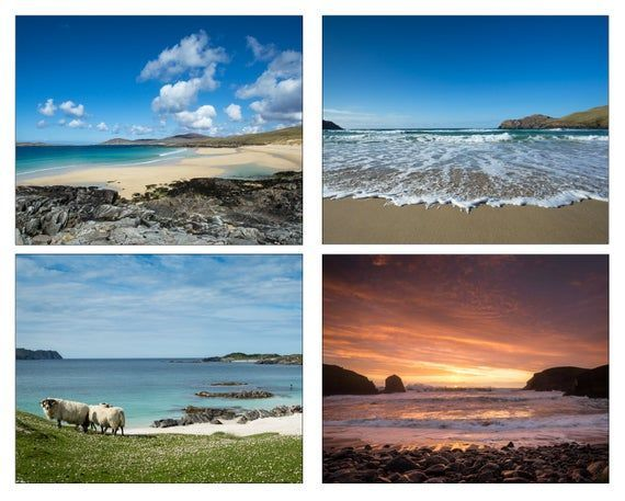 Outer Hebrides, Scotland - Set of 4 High Quality Photographs - sized (7x5ins or 10x8 ins) to suit st #outerhebrides Outer Hebrides, Scotland - Set of 4 High Quality Photographs - sized (7x5ins or 10x8 ins) to suit st #outerhebrides