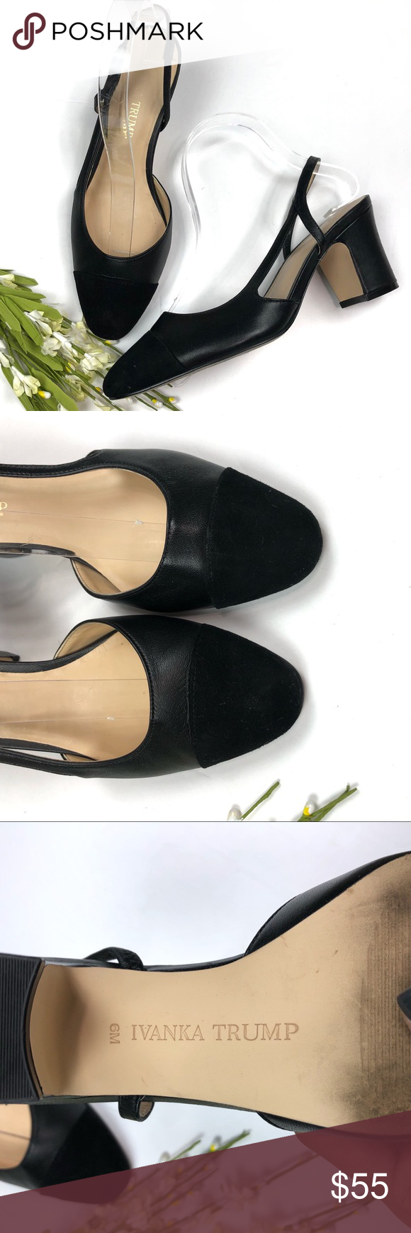 bb1bc6073f Ivanka Trump Black Liah Slingback Heels In excellent preowned condition. No  flaws. Minimal wear