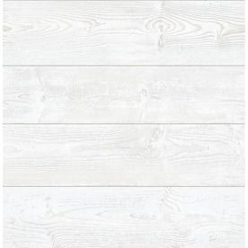 Graham Brown Eclectic 56 Sq Ft White Vinyl Paintable Textured Beadboard Prepasted Soak And Hang Wallpaper Lowes Com Wood Vinyl Peel And Stick Wallpaper White Vinyl