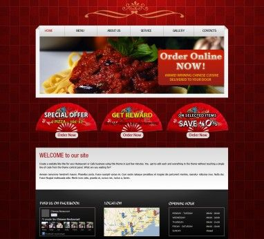 Restaurant Fast Food Takeaway Pizza Website Templates Restaurant Website Templates Website Template Restaurant Website